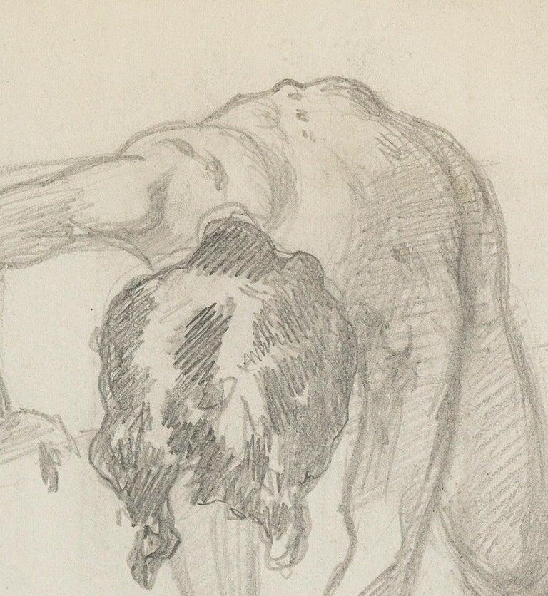 Figure Bending Over - American Impressionist Art by John Singer Sargent