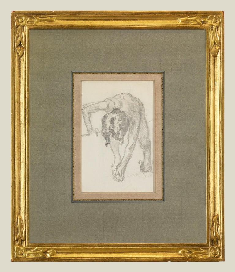 John Singer Sargent Nude - Figure Bending Over