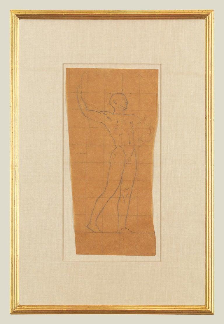 John Singer Sargent Figurative Art - Mural Study, Male Nude