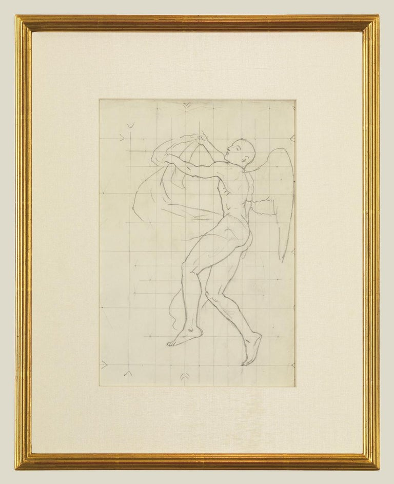 John Singer Sargent Nude - Study of Winged Figure for 'The Winds'