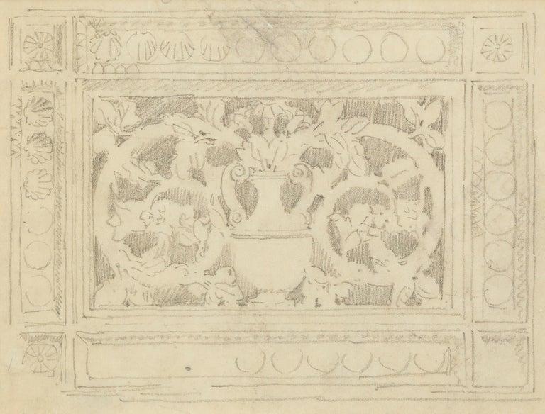 Decoration with Urn - Art by John Singer Sargent