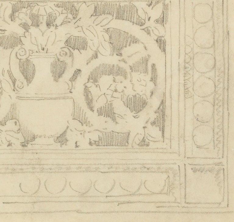 Decoration with Urn - American Impressionist Art by John Singer Sargent