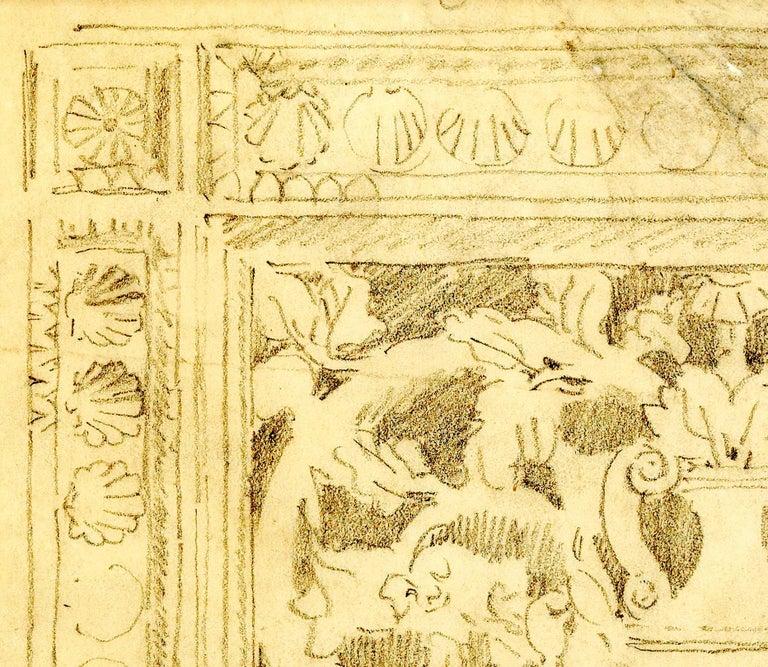 Decoration with Urn - Beige Interior Art by John Singer Sargent