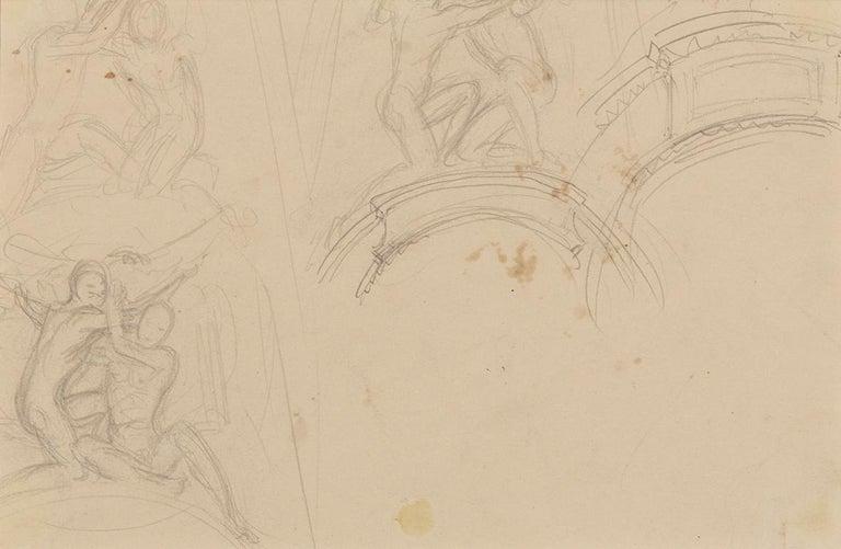 Garland Studies I - Beige Interior Art by John Singer Sargent