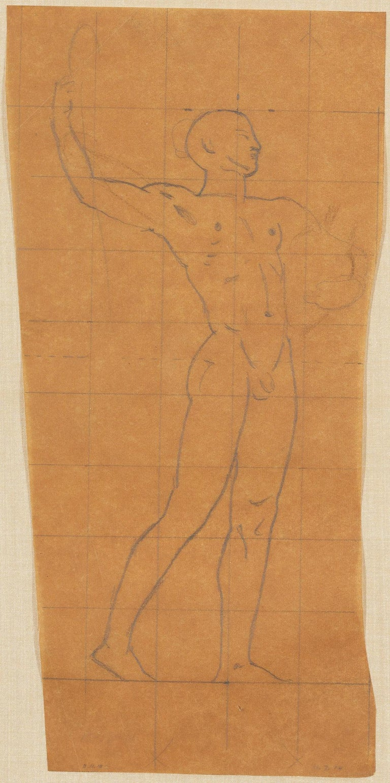 Mural Study, Male Nude - Art by John Singer Sargent