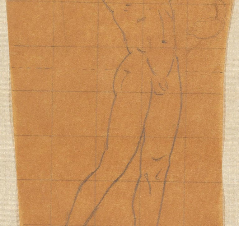 Mural Study, Male Nude - American Impressionist Art by John Singer Sargent