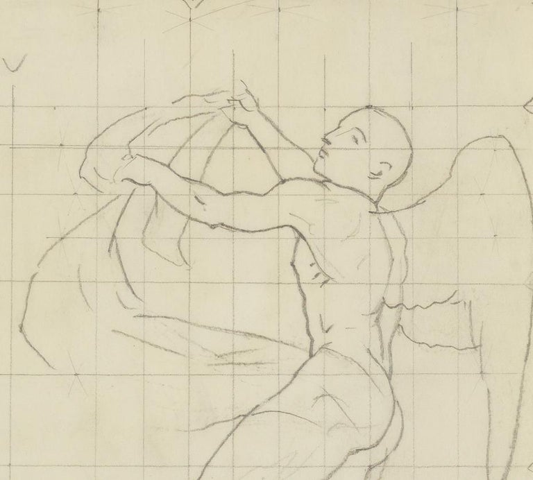 Study of Winged Figure for 'The Winds' - American Impressionist Art by John Singer Sargent