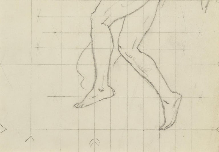 Study of Winged Figure for 'The Winds' - Beige Nude by John Singer Sargent