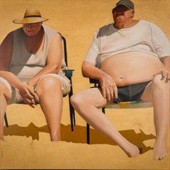 Les époux , oil painting on canvas , size with frame 85.6 x 85.6