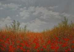 Naturalisation des coquelicots,oil painting on canvas,size w/ frame 97.4x70.4 cm