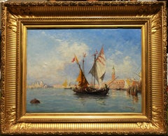 Sailing ships in front of Venice