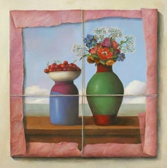Cherries and Bouquet in Tissue Paper