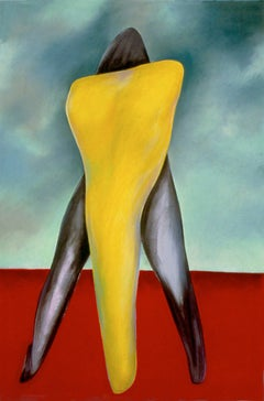 """""""One Night Stand"""", pastel in vivid yellow, red and black,"""