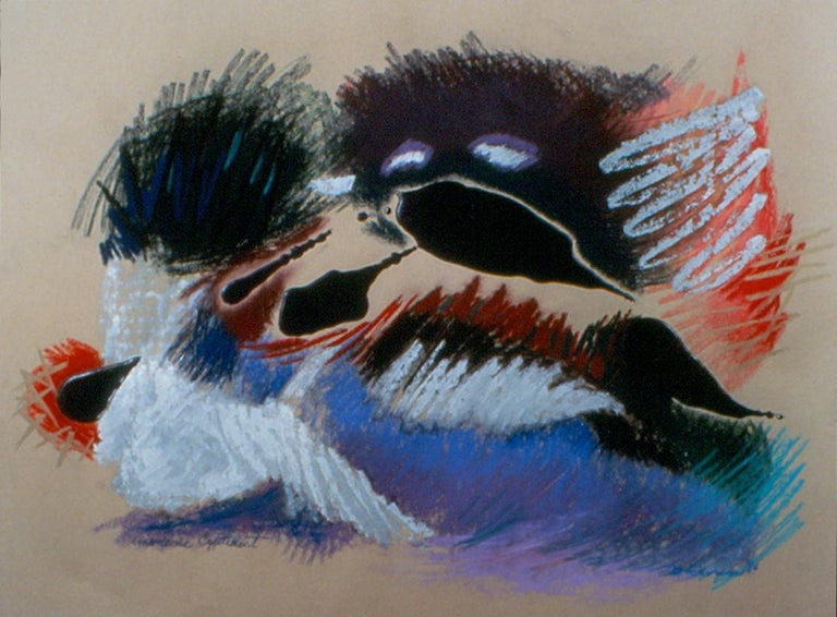 Marilyn Davidson Abstract Drawing - Unwelcome Excitement