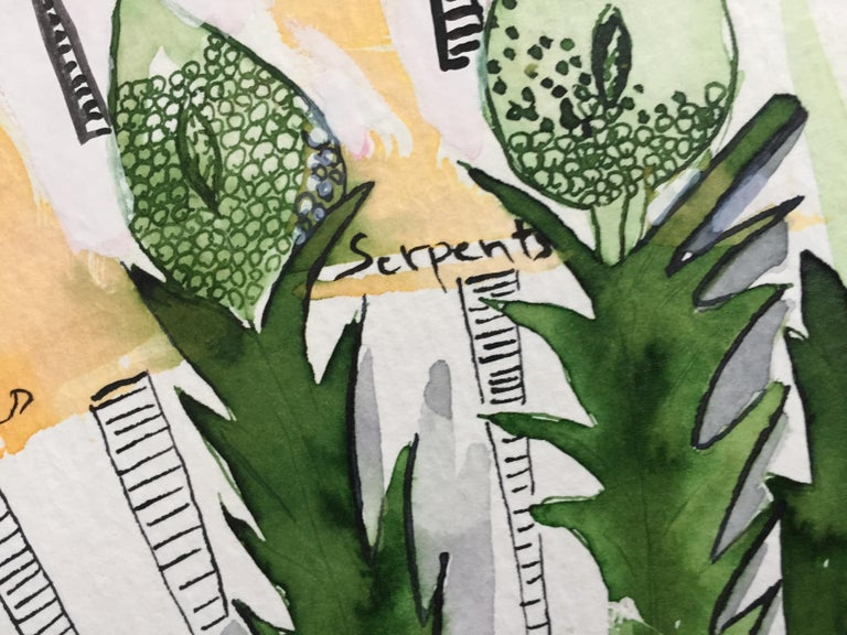 Plant and Spirit, La Verveine - Abstract Art by Nana Deleplanque
