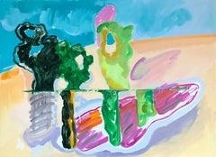 """Sunny Day"", sparkling, multicolored impressionistic landscape"