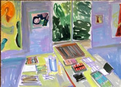 """""""The Studio"""", an impressionistic space in vibrant color"""