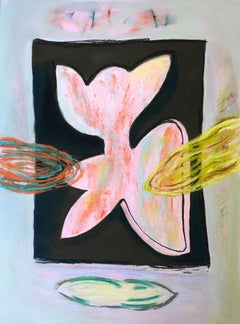 """""""Bunny"""", a whimsical pastel in in pinks and yellows"""