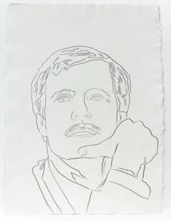 Andy Warhol, Graphite Work on Paper of Ted Turner, 1986