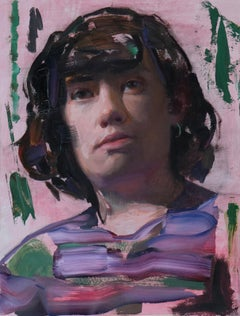 Victoria (portrait abstract figurative oil painting contemporary realism art