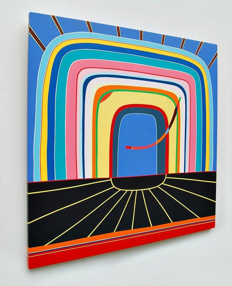 Bumble Jackpot - Beige Abstract Painting by Kurt Herrmann