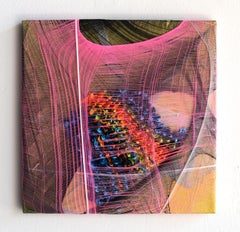 Nylon Painting 2 abstract fabric painting, textile based wall sculpture art