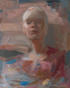 Portrait In Motion (gestural figurative portrait abstract realism woman painting