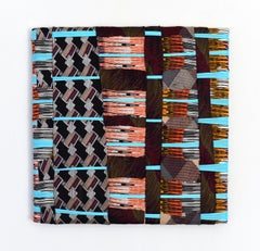 Irregular pattern 4 (abstract textile fabric mixed media sustainable art design