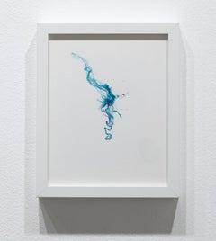 Sprinkle (fiber art, paper embroidery, textile art, pastel colours curvilinear)