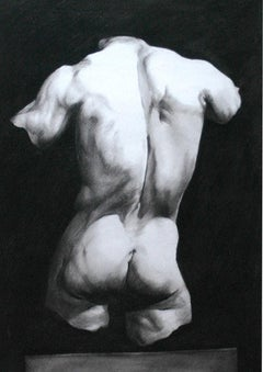 unsigned; Study of a Man's Back; pencil on paper