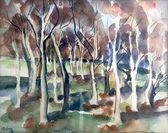 Clark Hulings (American 1922 - 2011); Landscape; watercolor on paper
