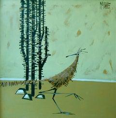 McCaine (American 20 th c); Hard Life; oil on canvas;
