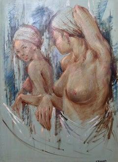 V. Warrami; Mirror reflection; oil on canvas