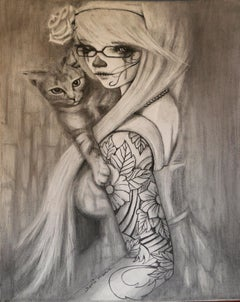 Cat With A girl