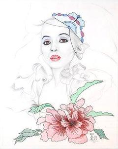 Diana Ross; Kluchik Steven; Hungarian born 1946; mixed media on paper;