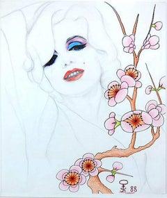 Marylin Monro; Kluchik Steven; Hungarian born 1946; mixed media on paper;