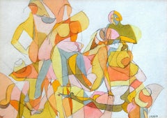 Irma Magid (American 1909 - 2003); Figures; watercolor on paper;