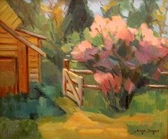 Sergei Bongart (Russian 1918 - 1985); Village scene; oil on canvas