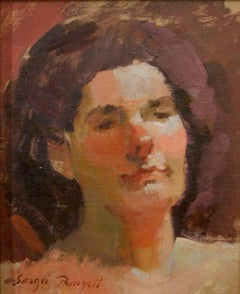 Sergei Bongart (Russian 1918 - 1985); Portrait; oil on board
