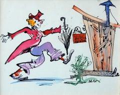 Julian Ritter (American 1909 - 2000); Julian Ritter Painter; watercolor, ink;