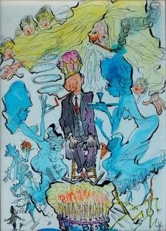 Julian Ritter (American 1909 - 2000); The Best; watercolor, ink on board;