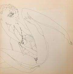 John Boyce (American 1938); Erotic drawing 11; ink on paper;