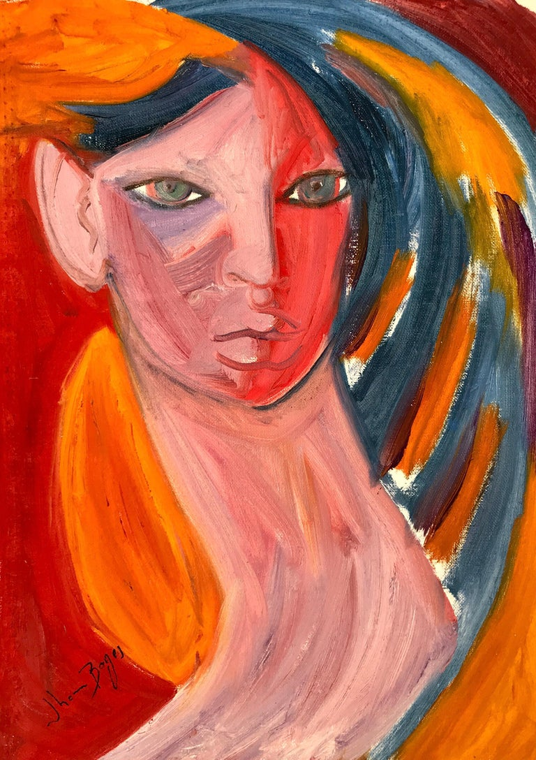 John Boyce (American 1938); Portrait 6; oil on canvas; no frame - Art by John Boyce