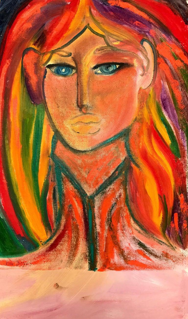 John Boyce (American 1938); Portrait 8; oil on canvas; no frame - Art by John Boyce