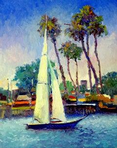 Sailboat, Morning in Long Beach