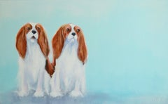 Dog Painting, Two Cavaliers