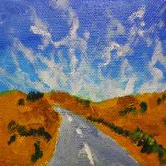 The Open Highway with Mare's Tail Clouds