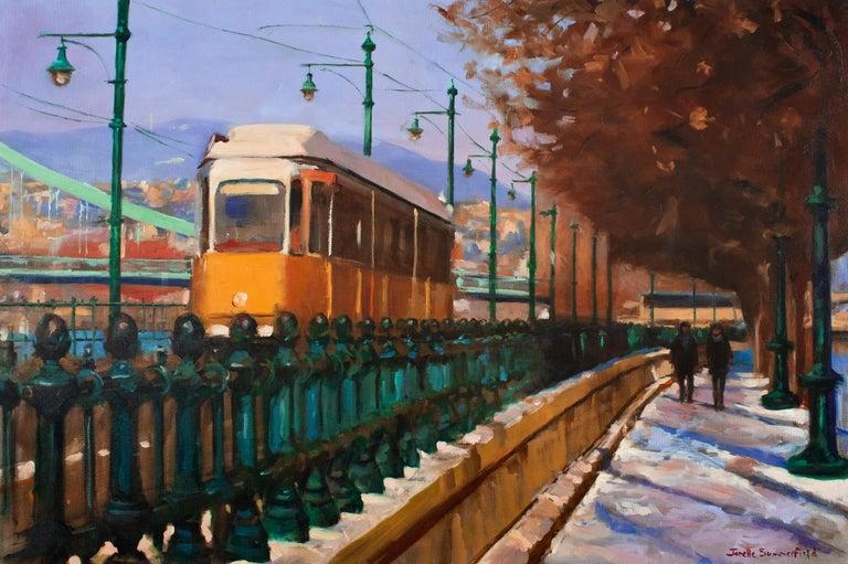 Streetcar in Budapest - Art by Jonelle Summerfield