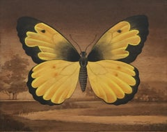 Yellow Butterfly Landscape