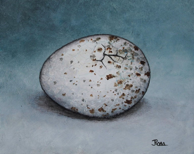 The Bird Waits In The Egg #9 - Mixed Media Art by Jennifer Ross